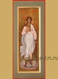 Рукописная Икона святого Ангела Хранителя 10,5*25см