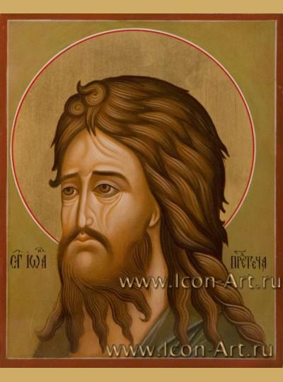 Рукописная Икона Святого Иоанна Предтечи 10,5*13см