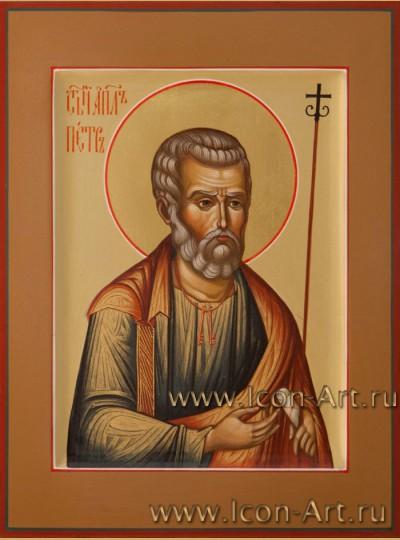Рукописная Икона святого апостола Петра 15*20см