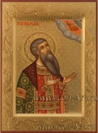 Рукописная Икона святого Романа Рязанского 15*20 см