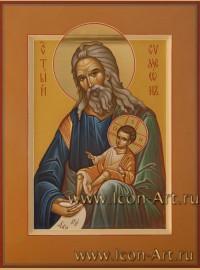 Рукописная Икона святого Симеона Богоприемца 21*28 см