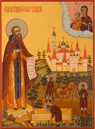 Рукописная Икона Святого Иосифа Волоцкого 15*20см