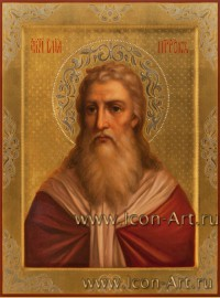 Рукописная Икона святого пророка Илии 30*40см