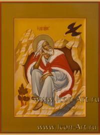 Рукописная Икона святого пророка Илии 21*28 см