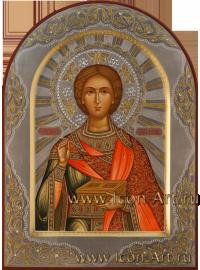 Рукописная Икона святого великомученика Пантелеимона 21*28см