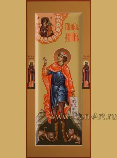 Рукописная мерная икона святого Пророка Даниила