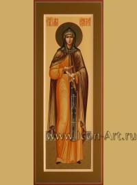 Рукописная мерная икона святой преподобной Марии Радонежской