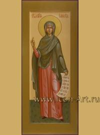 Рукописная мерная икона святого праведной Елисаветы