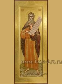 Рукописная мерная Икона святого Илии Пророка