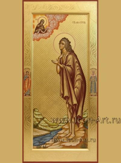 Рукописная мерная икона святой Марии Египетской