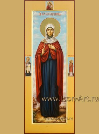 Рукописная мерная Икона мученицы Александры Коринфской