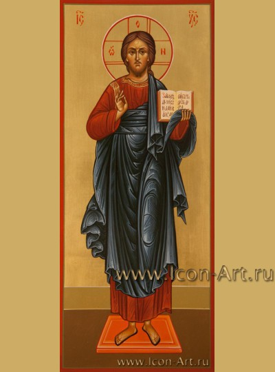 Рукописная  Икона Господа Вседержителя 10,5*25см