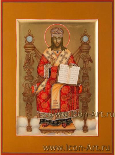 Рукописная Икона Иисус Христос Великий Архиерей 21*28см