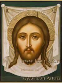 Рукописная  икона Нерукотворный образ Господа нашего Иисуса Христа 15*20 см