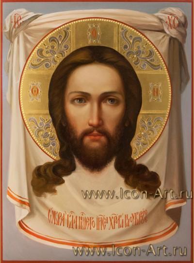 Рукописная  икона Нерукотворный образ Господа нашего Иисуса Христа 30*40 см