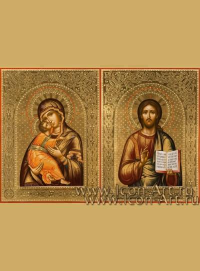 Венчальные иконы Господь Вседержитель и Пресвятая Богородица Владимирская
