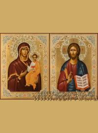 Венчальные иконы Господь Вседержитель и Пресвятая Богородица Смоленская