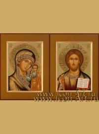 Венчальные иконы Господь Вседержитель и Пресвятая Богородица Казанская